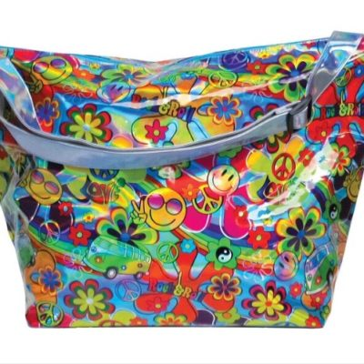 Hippie Love Holographic Weekender Bag