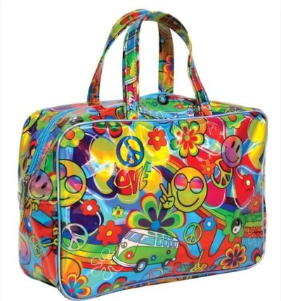 Hippie Love Holographic Large Cosmetic Bag