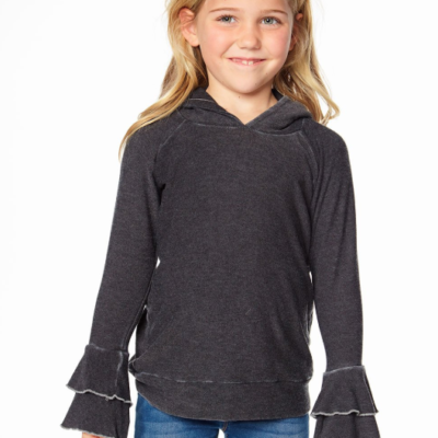 Cozy Tiered Ruffle Sleeve Pullover