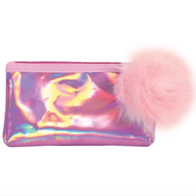 Pink Holographic Pencil Case