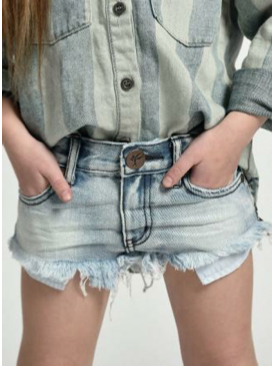 Kids Bonita Low Waist Denim Short