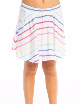 Rainbow Stripe Skort