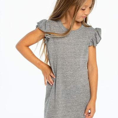 Tri-blend Flutter Sleeve Dress