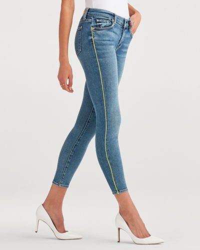 Ankle Skinny With Neon Piping