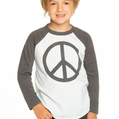 Raglan Peace Baseball Long Sleeve