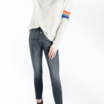Rainbow Stripe V Neck