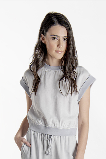 Cap Sleeve Cropped Top