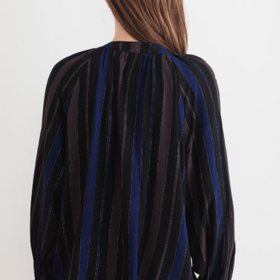 Lurex Stripe Blouse
