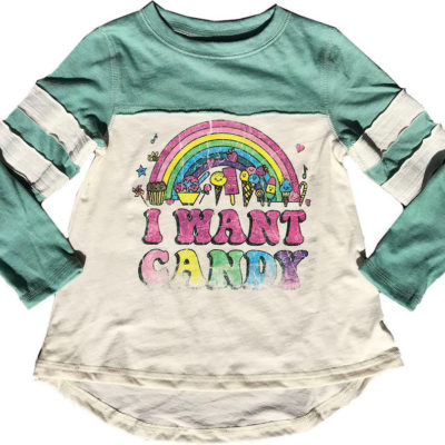 I Want Candy Varsity Long Sleeve