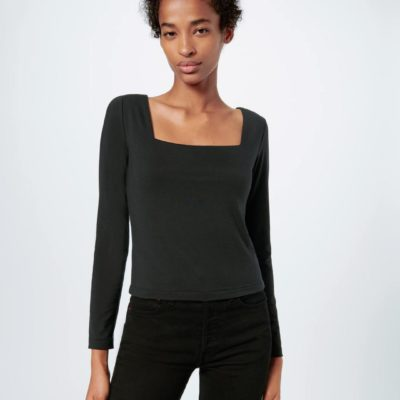 80'S Square Neck Long Sleeve