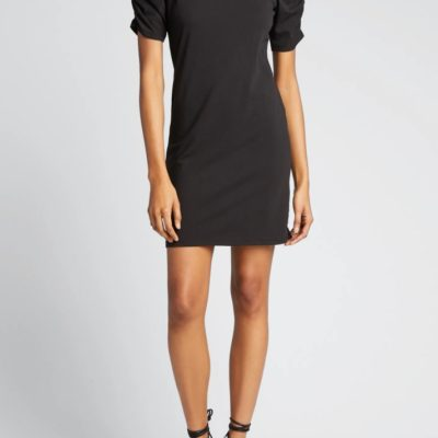 Gathered Short Sleeve Dress
