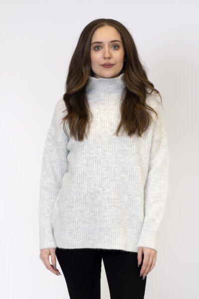 Cosmo Mock Neck Ribbed Sweater