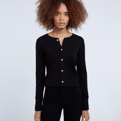 50's Cropped Button Long Sleeve