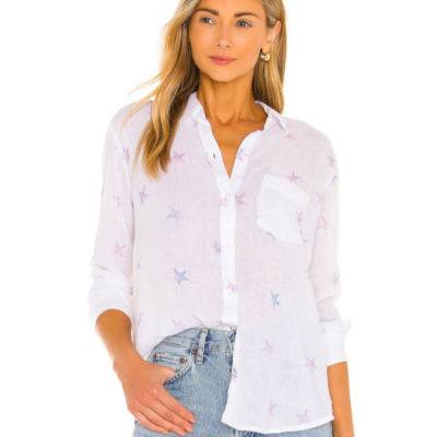 Charli Tie Dye Star Button Down