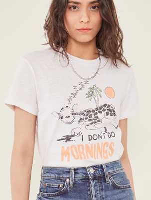 70's Loose I Don't Do Mornings Tee
