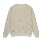 The Sherpa College Sweatshirt with Ditsy Floral Embroidery