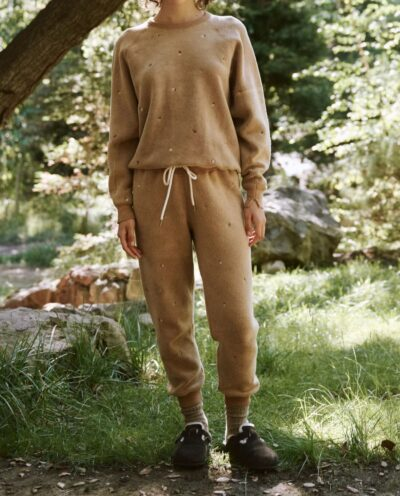 The Sherpa Cropped Sweatpant