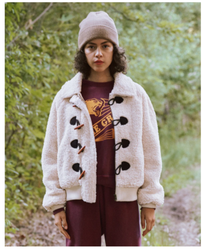 The Sueded Toggle Sherpa Coat